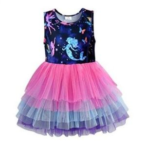 Other - Mermaid Unicorn Ruffle Girls Dress NWT